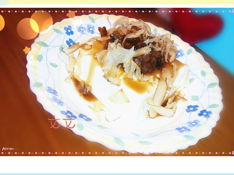 涼拌紫蘇酸梅豆腐[超簡單前菜]