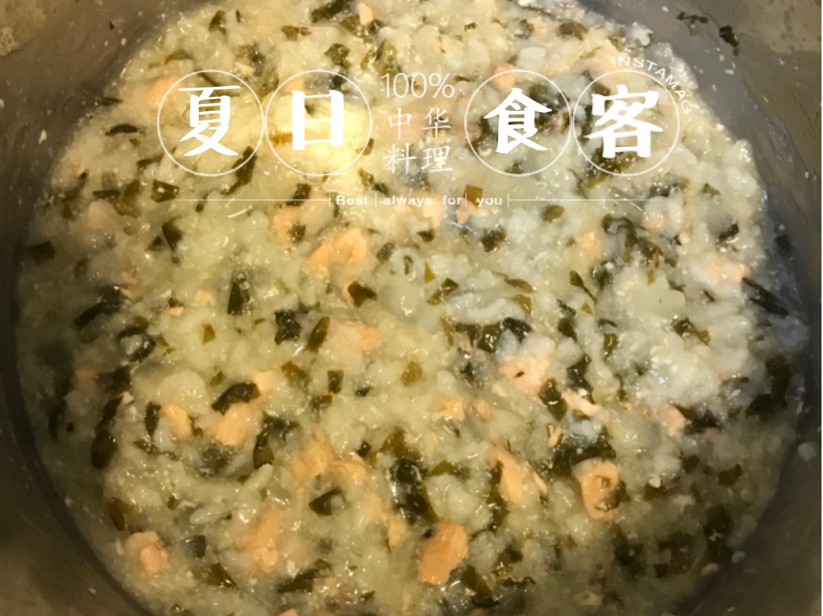 簡單、自然《地瓜葉鮭魚洋蔥寶寶粥》