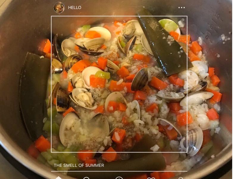 簡單、自然《絲瓜蛤仔紅藜紅蘿蔔 寶寶粥》