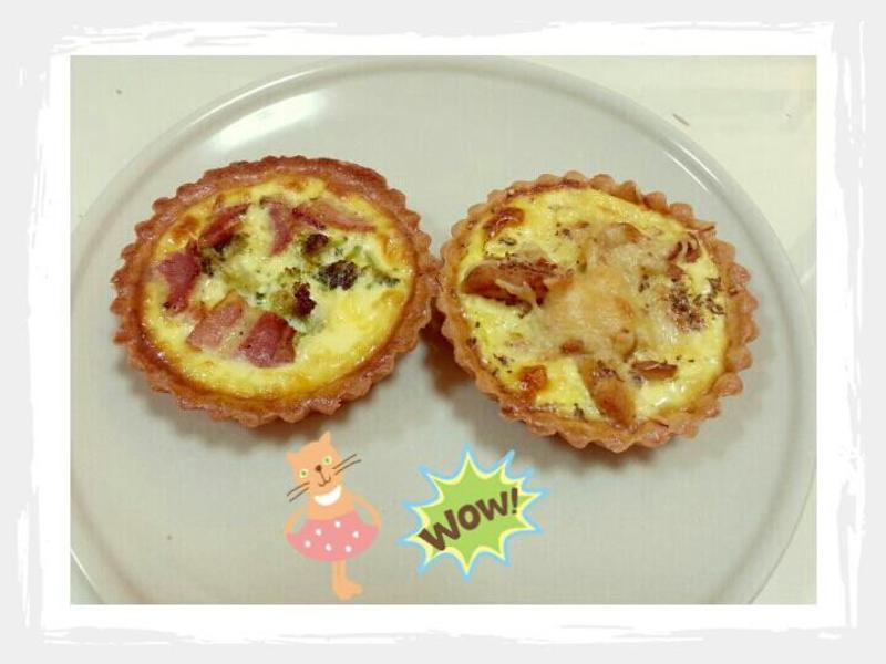 鹹派(培根花椰菜、雪白菇雞肉)