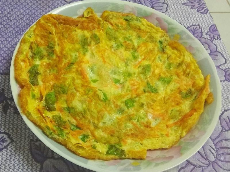 芹菜紅蘿蔔煎蛋