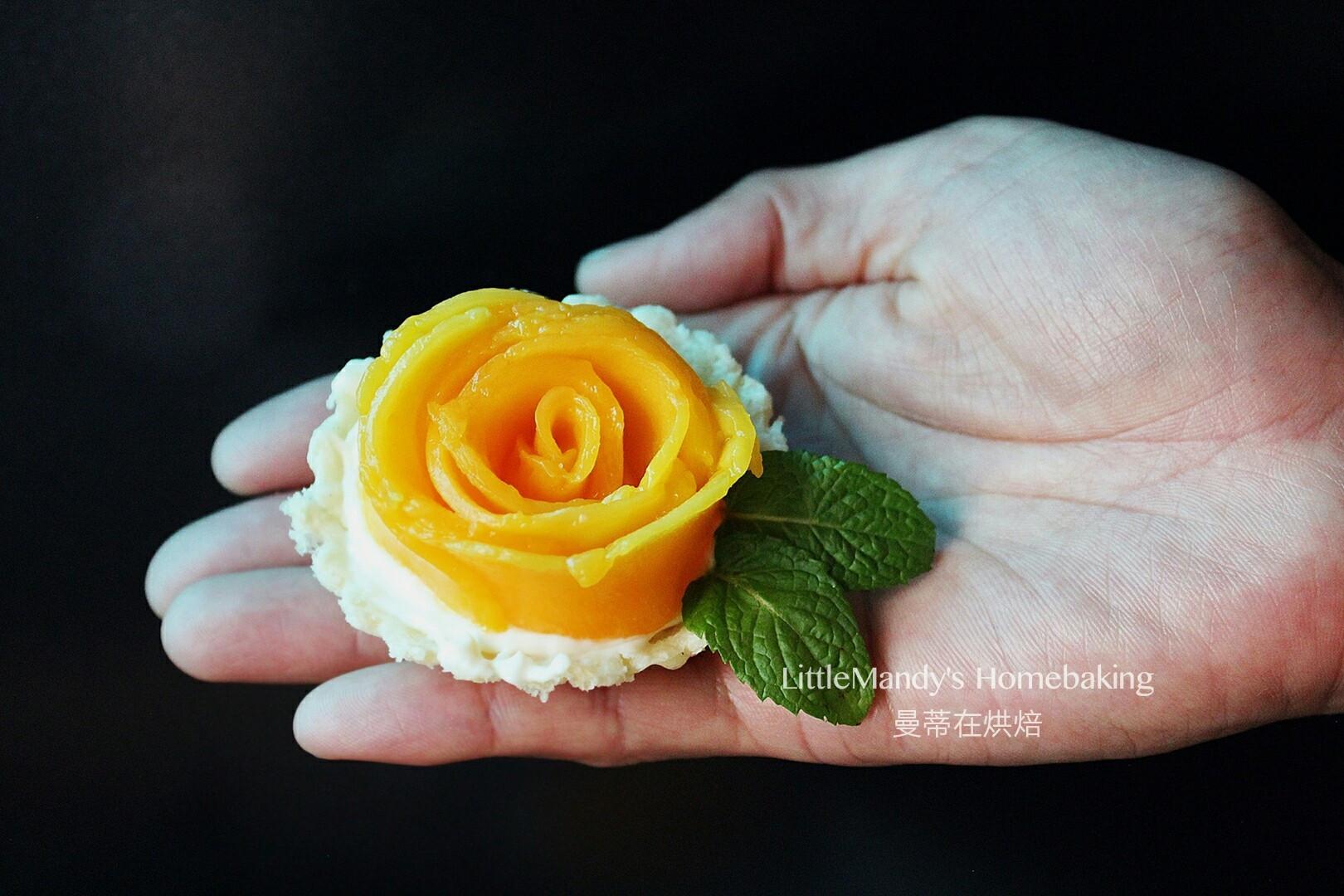免塔皮,芒果玫瑰乳酪塔輕鬆做