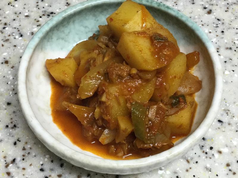 (韓式)醬燒鮪魚馬鈴薯 참치감자조림