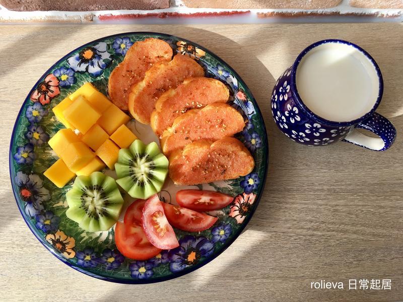 酥烤明太子芒果🥝🍅優酪乳