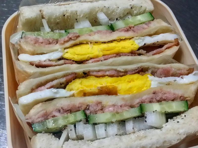 賢慧的愛妻早餐-培根鮪魚三明治