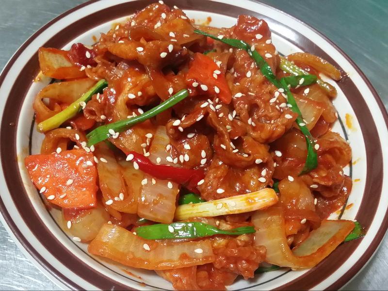 韓式辣炒豬肉♡