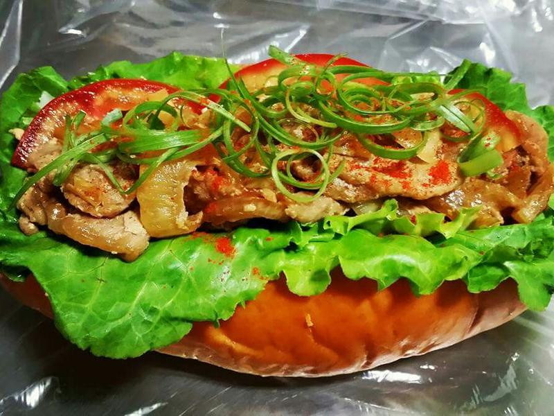 賢慧的愛妻早餐-日式壽喜燒豬肉堡