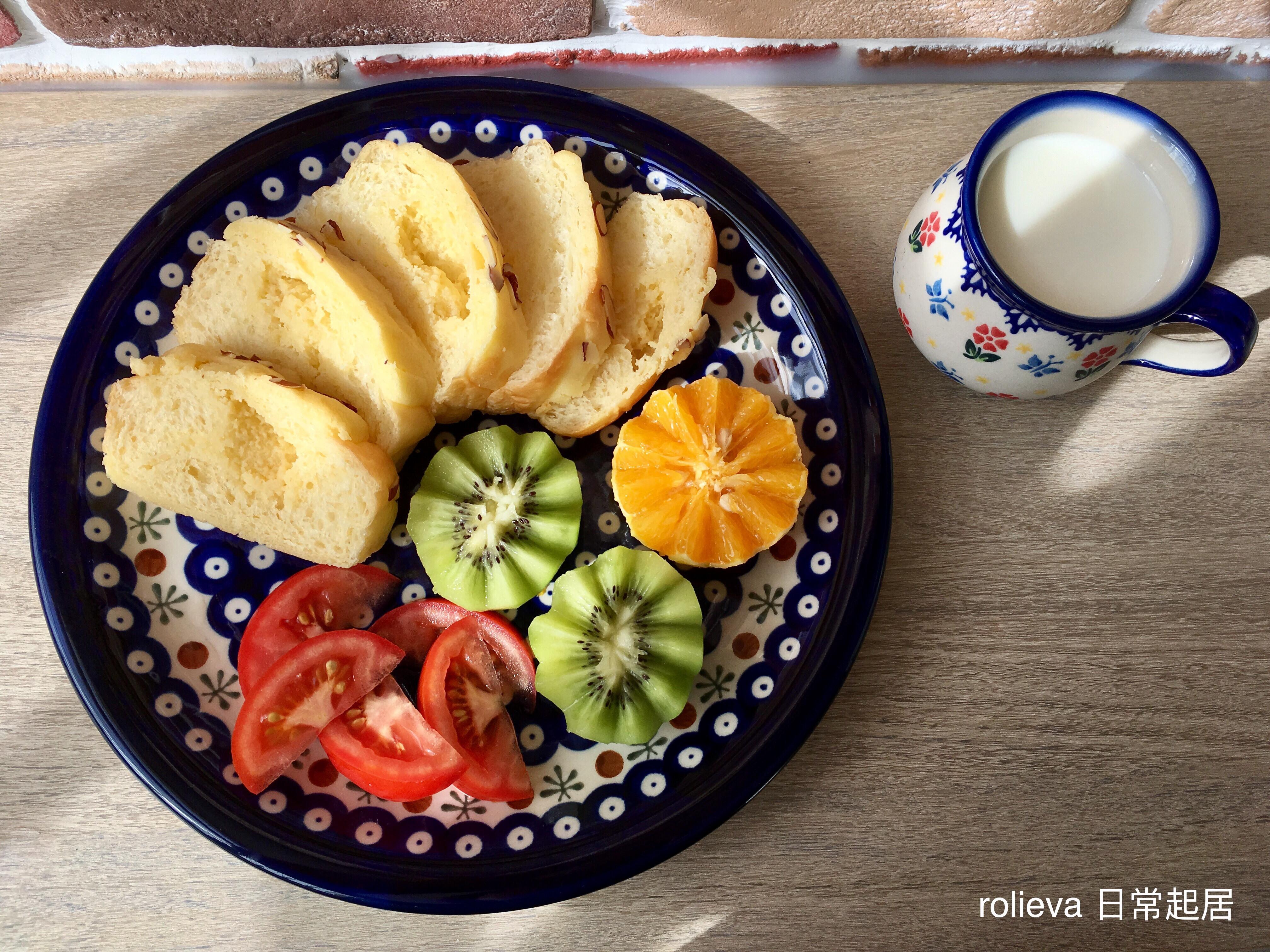 奶酥菠蘿吐司🍅🥝🍊優酪乳