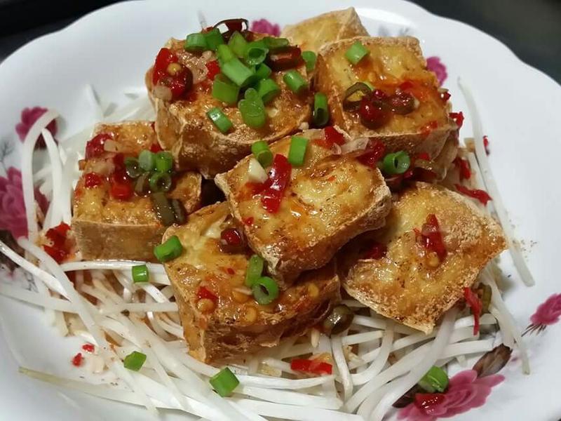 泰式椒麻炸豆腐♡