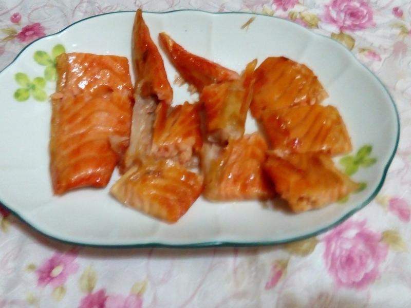 生煎鹽漬鮭魚肚肉