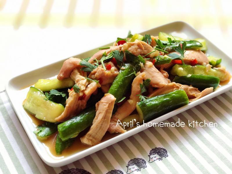涼拌椒麻雞 低熱量電鍋菜