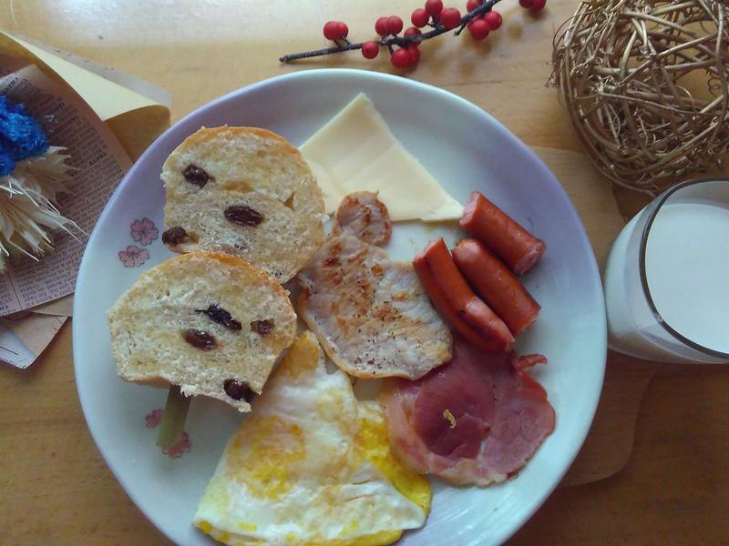 蜂蜜椰子油葡萄乾偽瑪芬麵包