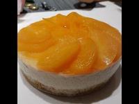 水蜜桃起司蛋糕(免烤)(6吋)