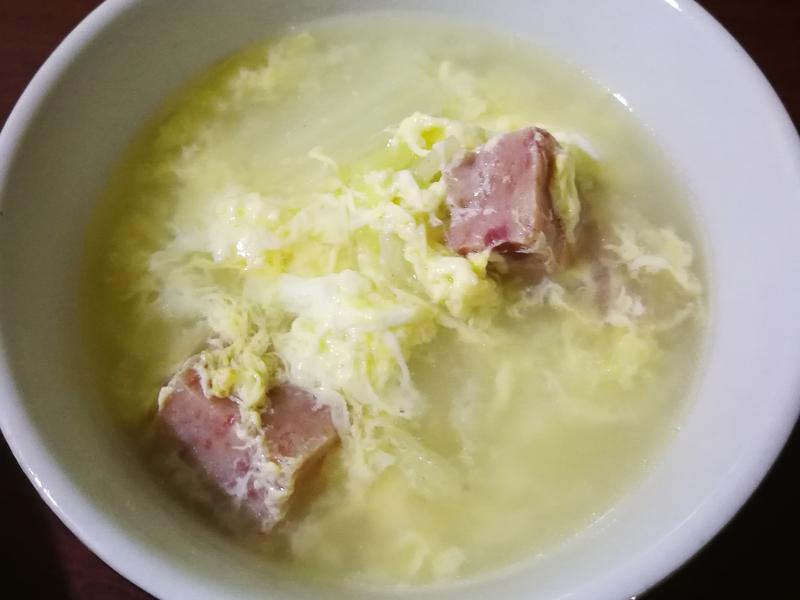 午餐肉白菜汤