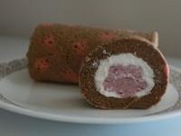 巧克草莓慕斯蛋糕捲