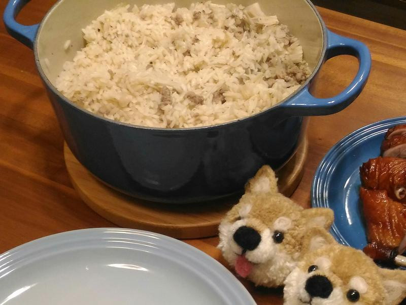 金針菇絞肉炊飯