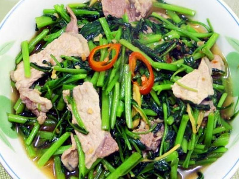 【厚生廚房】空心菜炒肉片