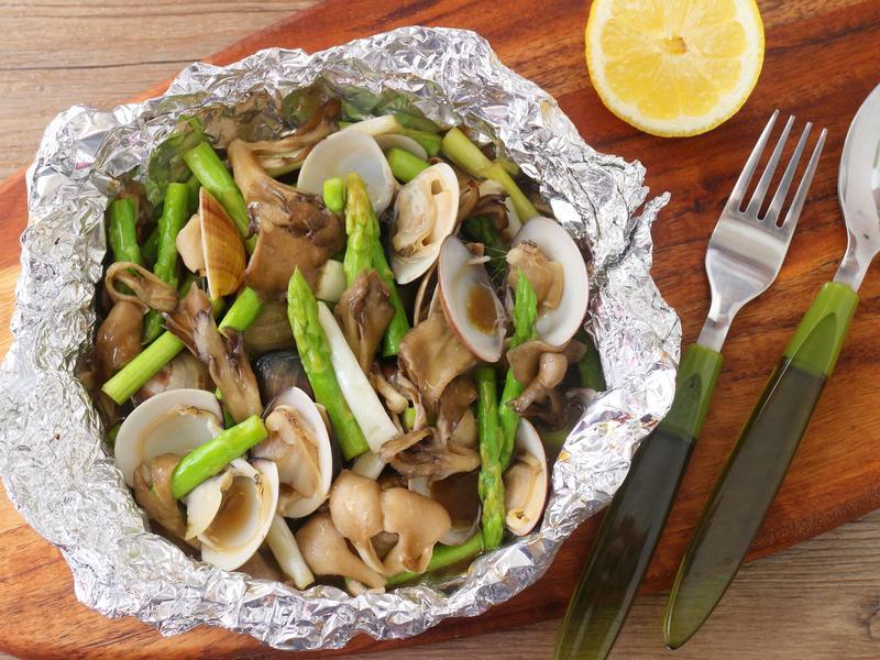 鋁燒菇菇文蛤