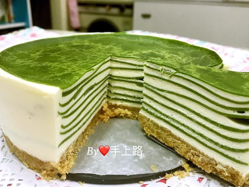 🍵抹茶千層乳酪蛋糕🍵(6吋、免烤箱)