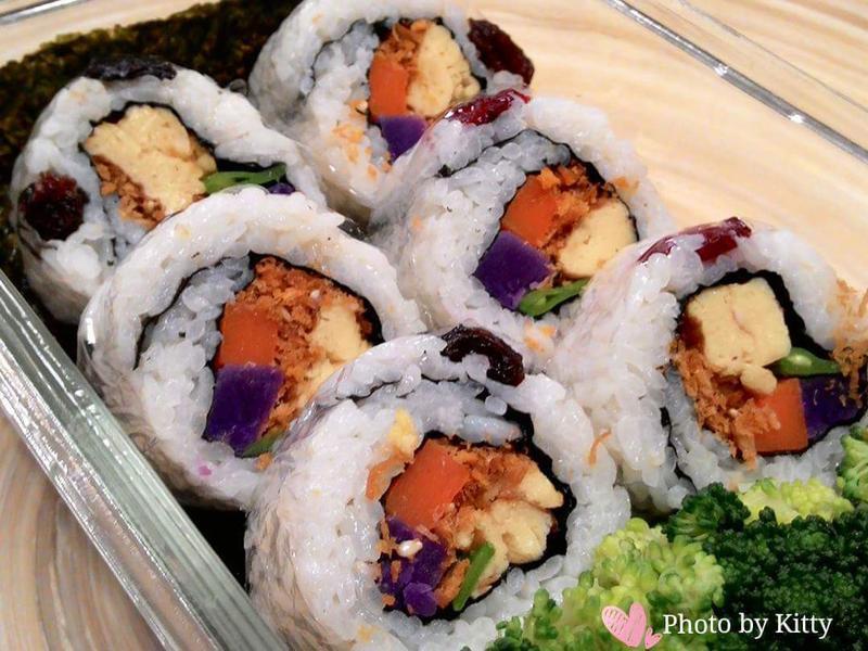 ♥憶柔蔬食♥五行花壽司