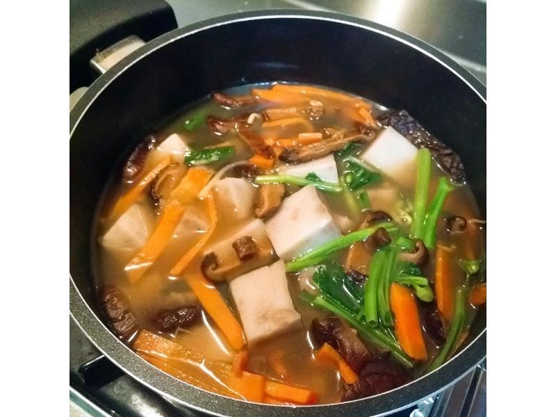 蘿蔔糕煮湯(可素食)