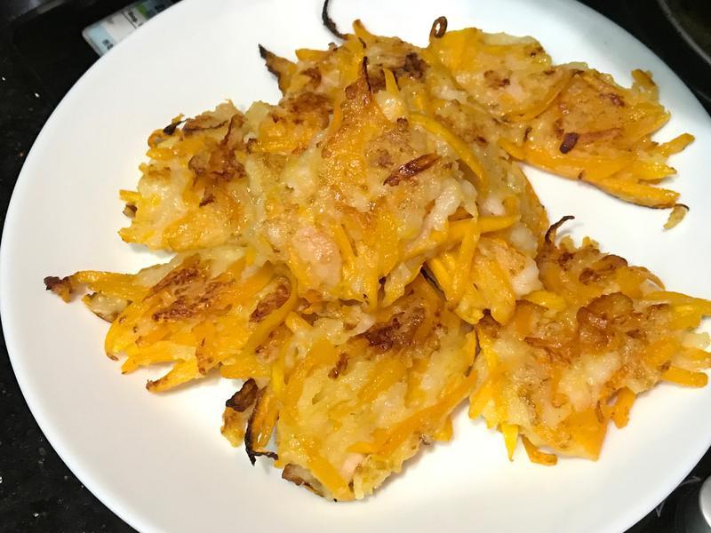 南瓜蝦餅 香煎南瓜餅 簡單食譜