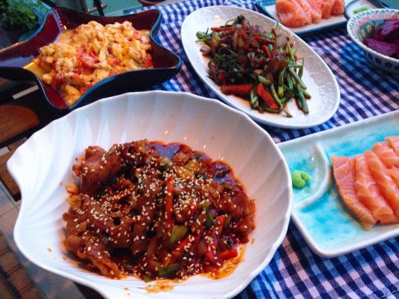 韓式辣炒豬肉片