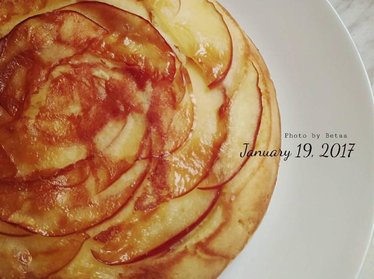 平底鍋糖漬蘋果蛋糕懶人版🍒免烤箱