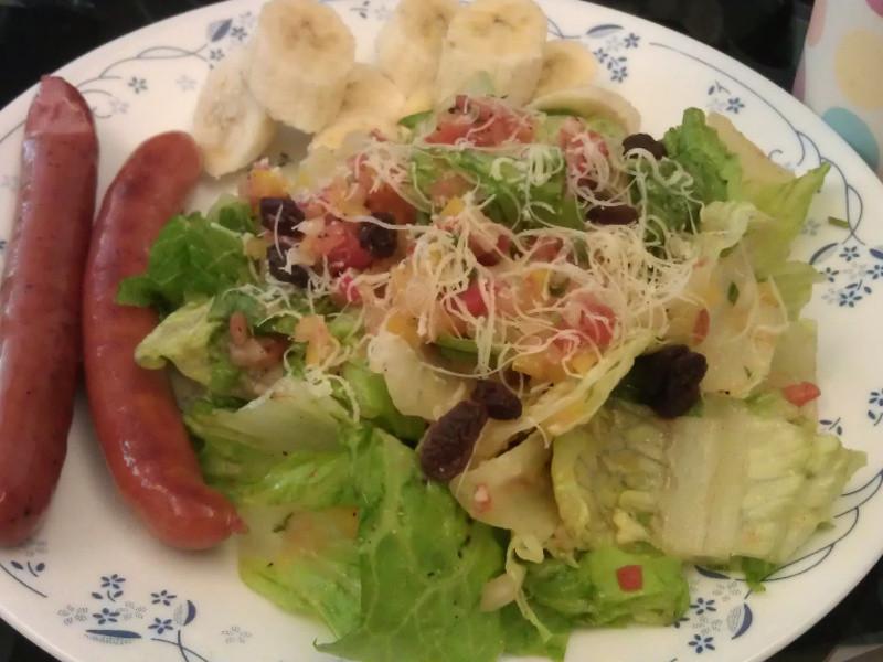 莎莎醬蘿蔓生菜沙拉