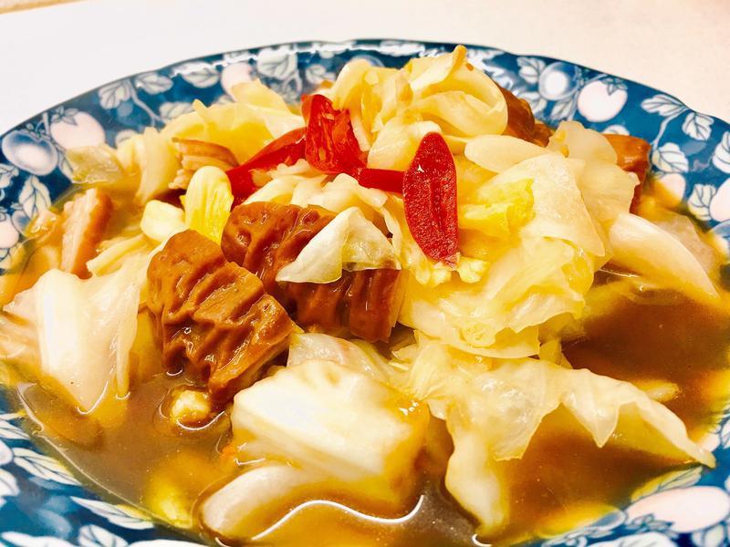 蠔油肥腸高麗菜