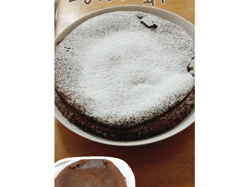 《超easy兩種食材》巧克力蛋糕