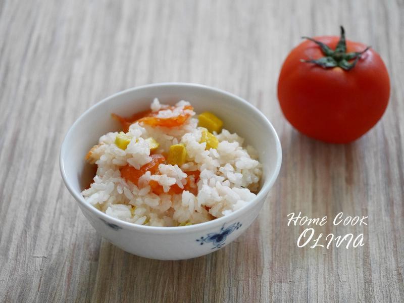 小廚娘❤電鍋整顆番茄飯