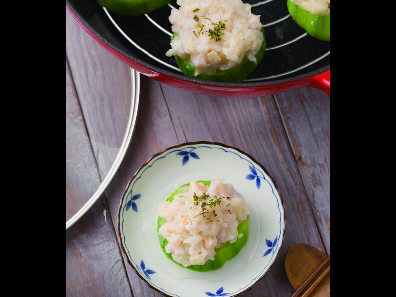 【摩堤 鑄鐵鍋料理】鮮蝦絲瓜餅