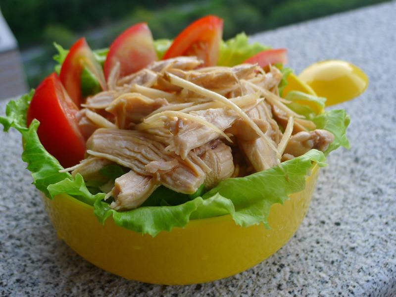 品靚上菜-雞絲鮮蔬溫沙拉
