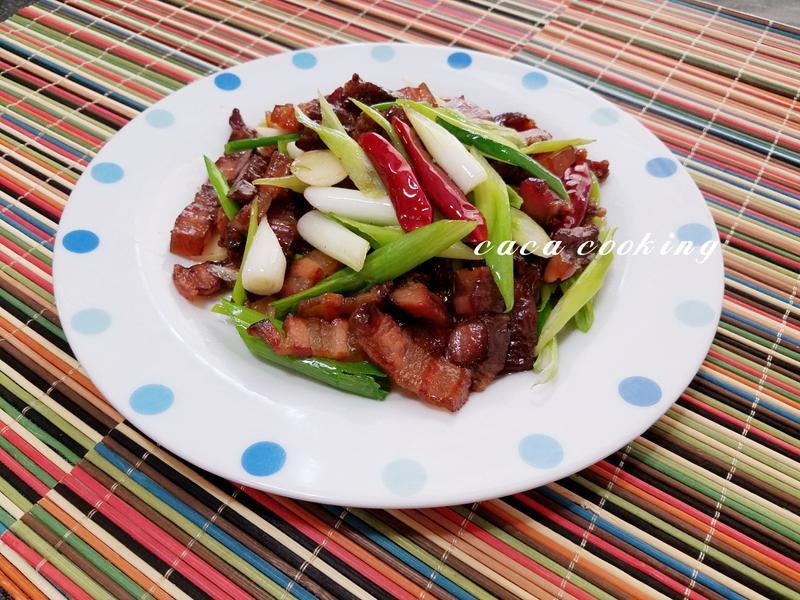 臘肉蒜炒青蔥