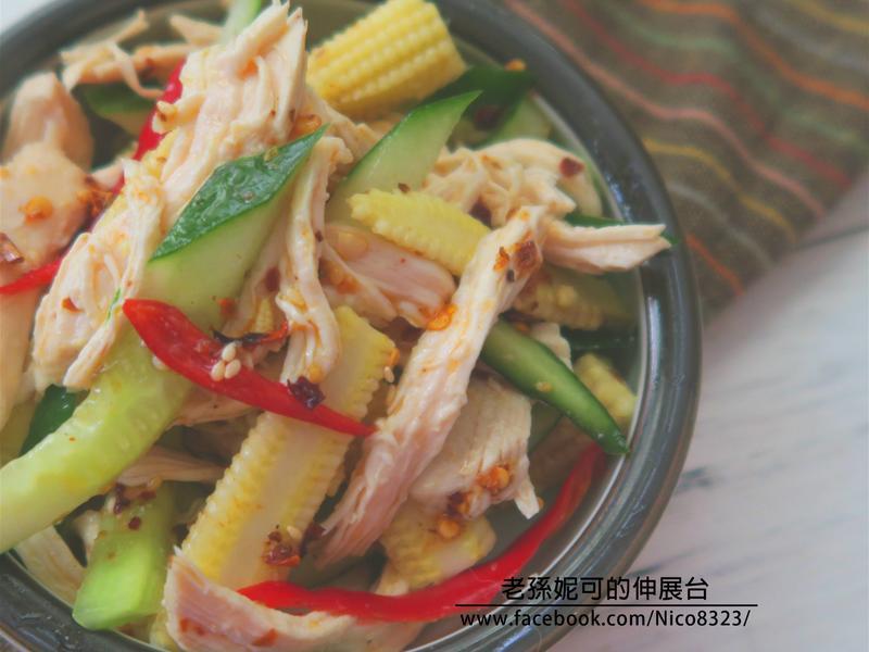 涼拌鮮蔬雞絲