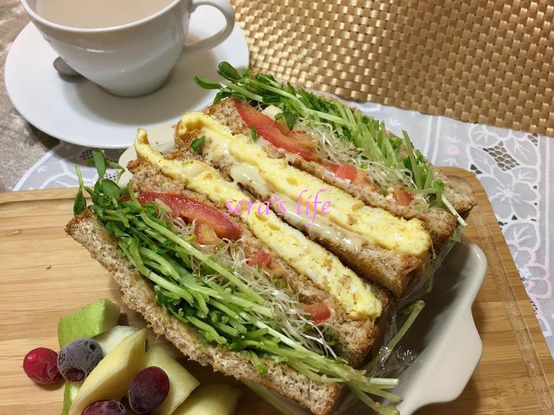 全麥蔬菜三明治