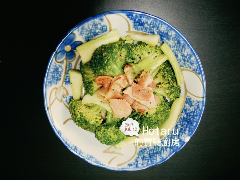 青花菜炒培根