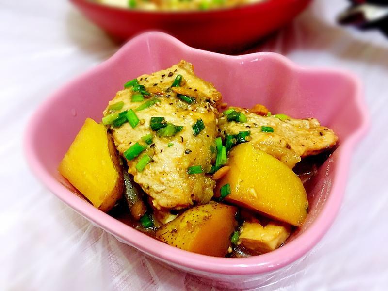 馬鈴薯豆腐燜肉片(keep fit餐單)