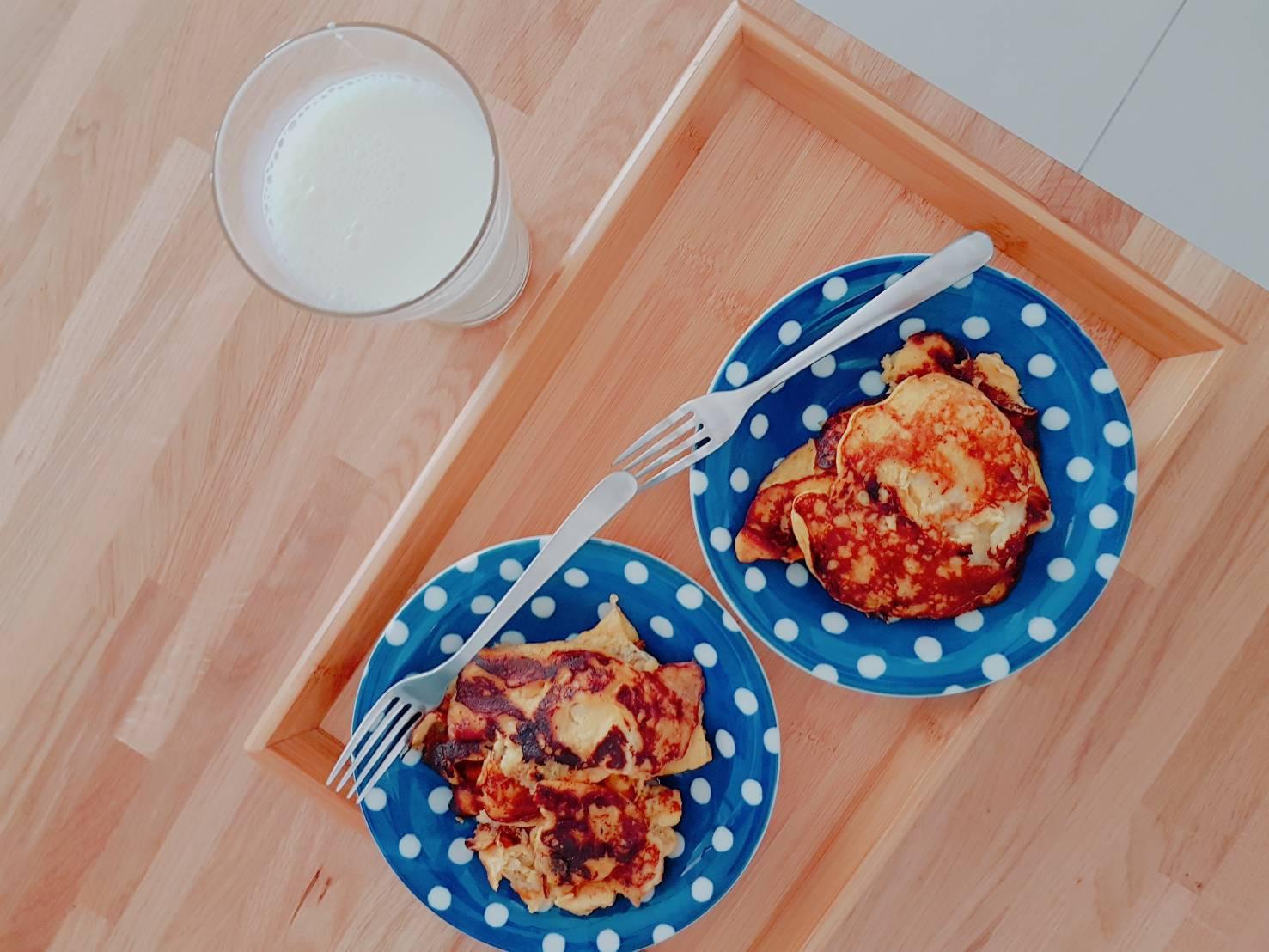 【超好吃香蕉雞蛋煎餅】法式懶人早餐自己做