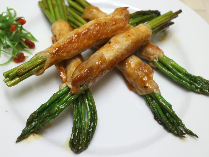 醬燒蘆筍里肌捲(((0廚藝OK