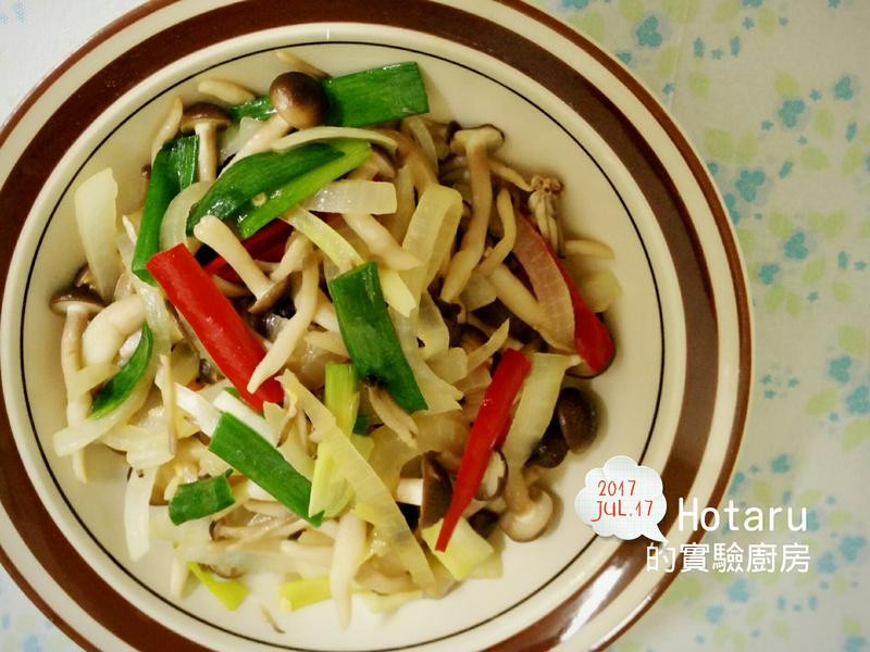 超級簡單的洋蔥炒菇菇