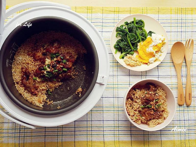 電子鍋料理-豉汁排骨煲仔飯