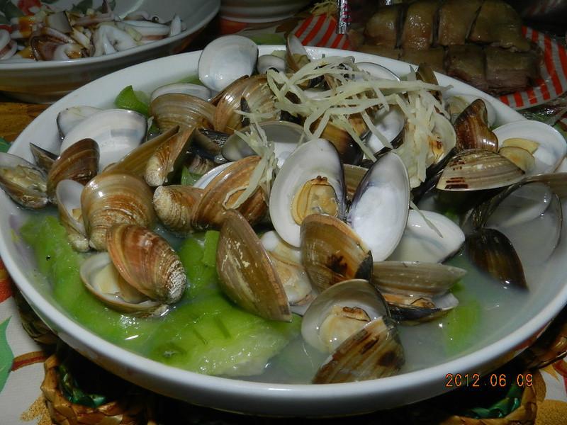 ㄚ曼達的廚房~蛤蜊絲瓜
