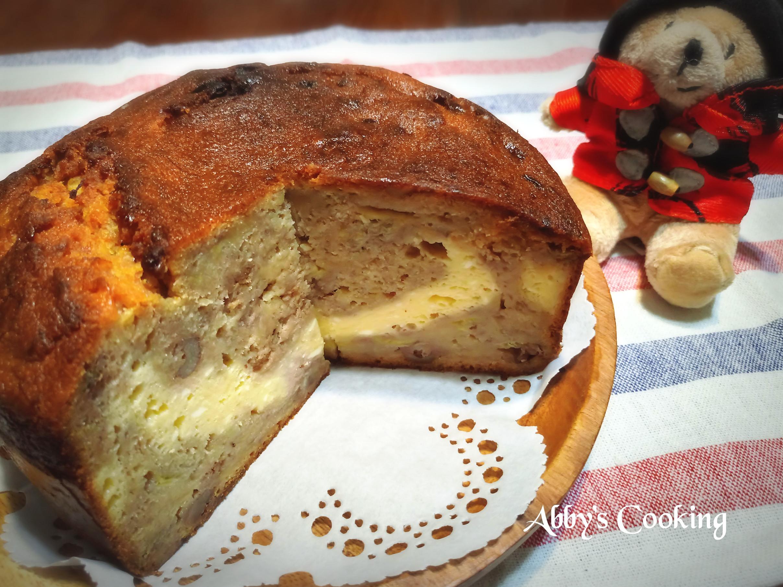 香蕉核桃乳酪夾層磅蛋糕