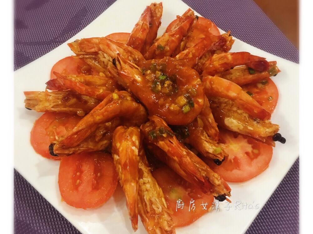 茄汁燒大蝦