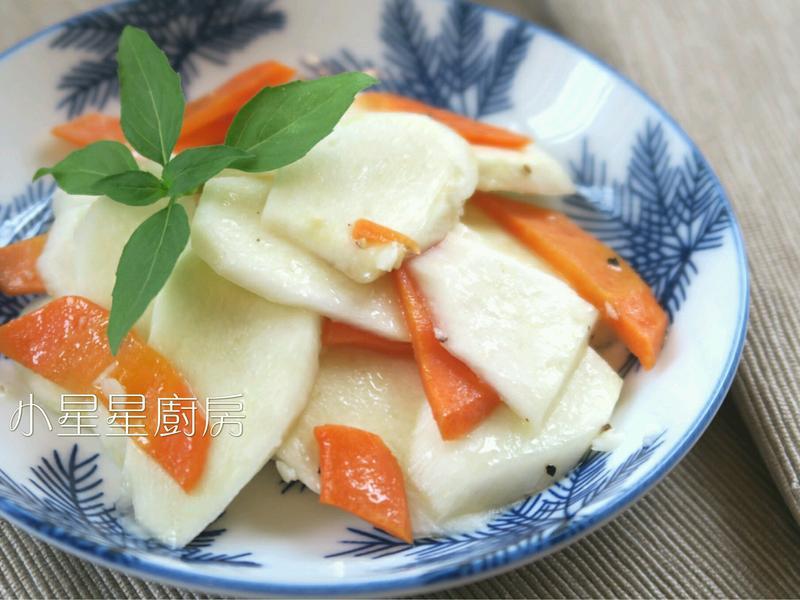 蒸奶油蒜香茭白筍(超簡易電鍋菜)