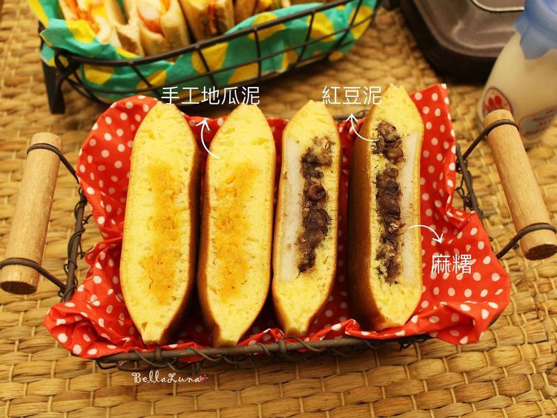 地瓜/紅豆麻糬鬆餅(影音連結)