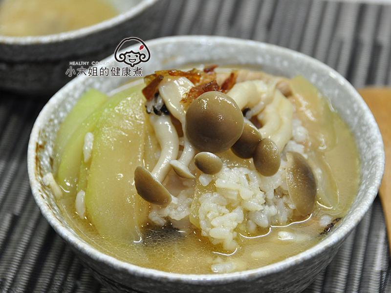 蒲瓜菇菇鹹粥