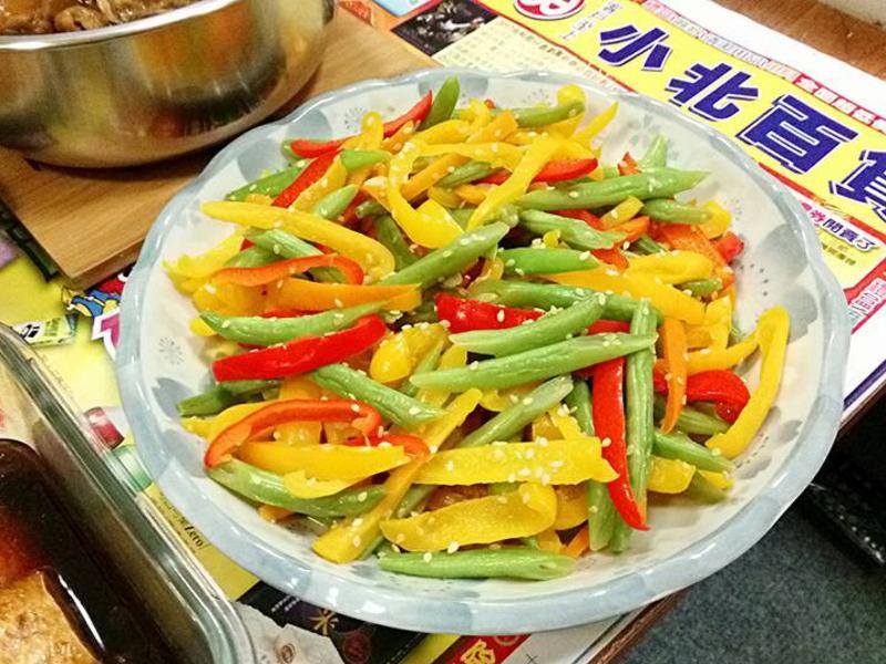 【清炒甜椒四季豆】